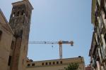 Gru JIB TOP 42 cantiere centro storico  (Sa)